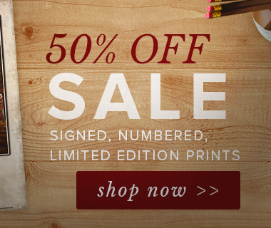 50% SALE on Signed, Numbered, Limited Edition Prints. Shop now!