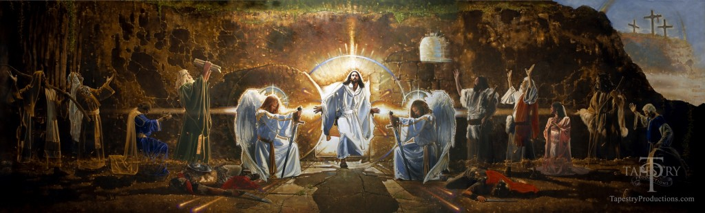 Artwork ron dicianni the resurrection mural for Easter rising mural