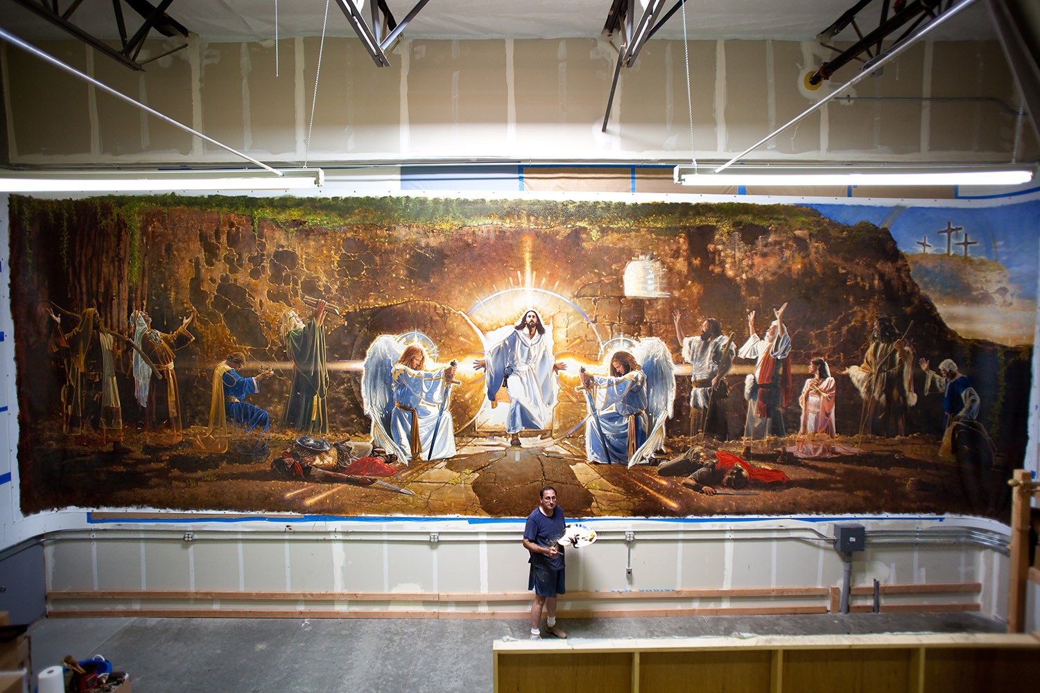 Ron DiCianni Resurrection Mural Painting 1