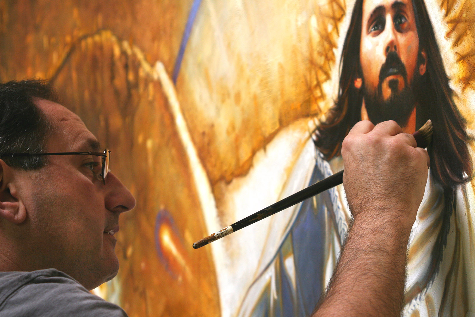 Ron DiCianni Resurrection Mural Painting 2