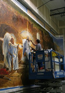 Ron DiCianni Resurrection Mural Painting 3